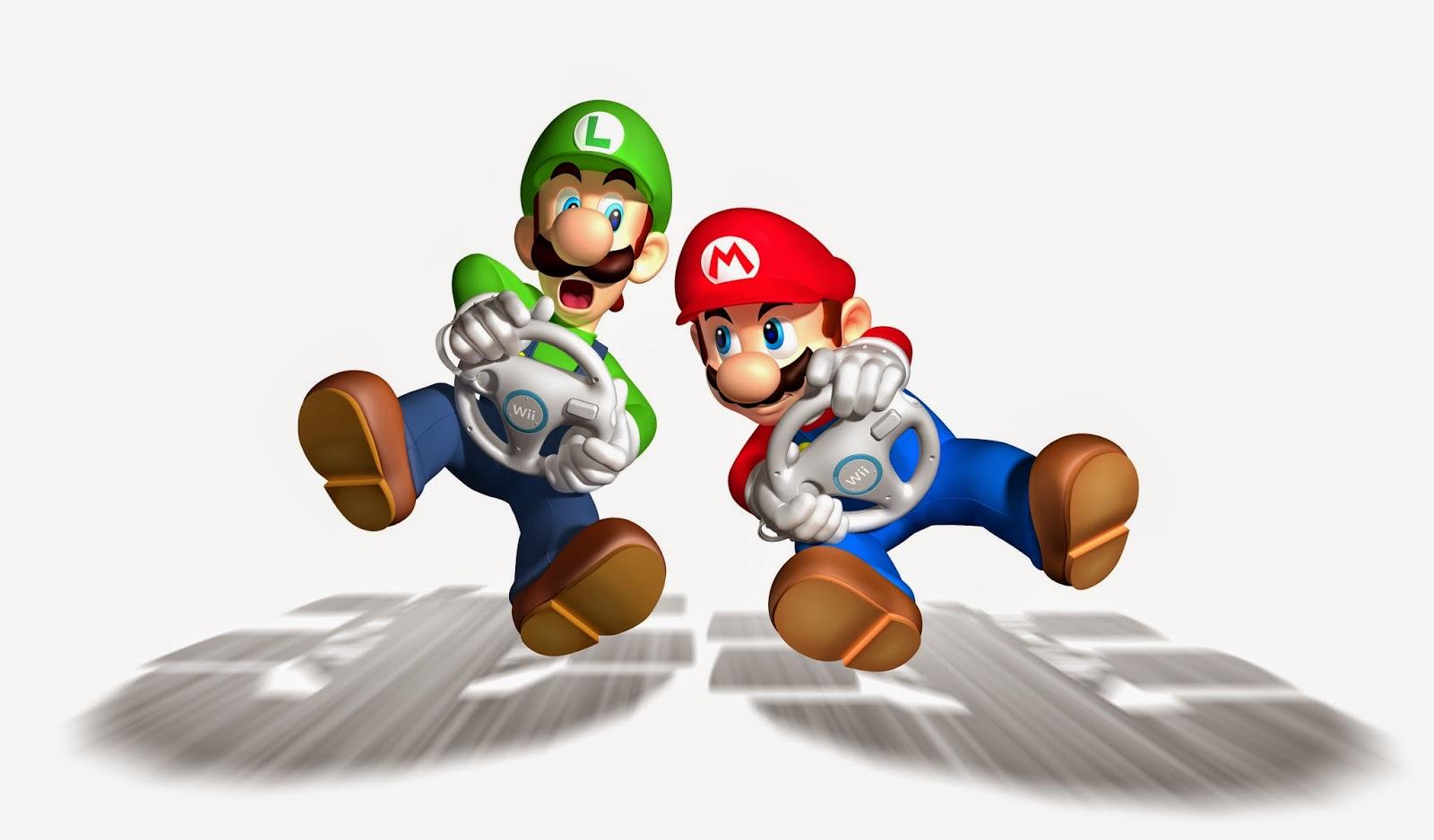 Luigi e Mário Kart 3D