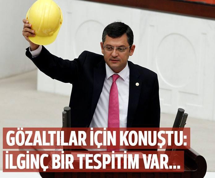 CHP milletvekili Özgür Özel: 'İlginç bir tespitim var.!'
