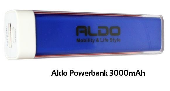 Harga &Spesifikasi Aldo Powerbank 3000mAh