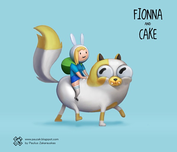 Fionna and Cake in 3D!! por PauZak