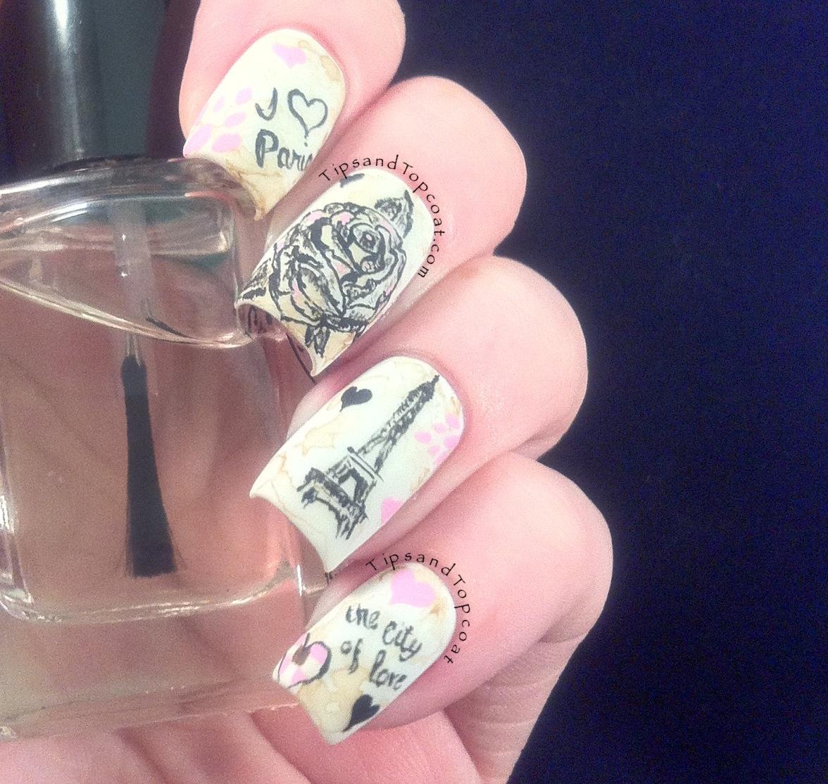 Nail Art Quotes Paris inspired nail art and