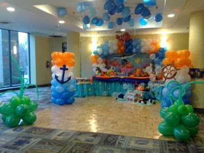 Kids birthday party theme decoration ideas interior for Balloon decoration for kids birthday party