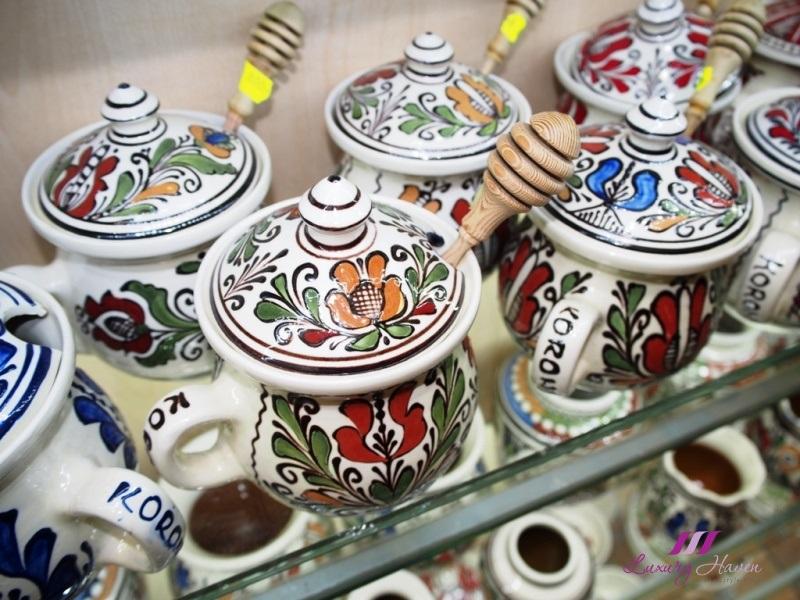 budapest central market hall handmade porcelain souvenirs