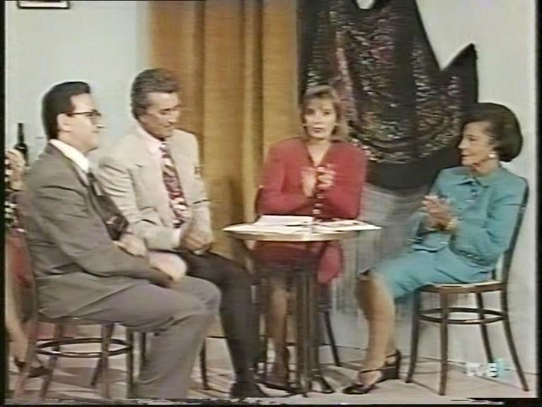 Entrevista en TV1, la Campos, Valladares y Fina de Calderón