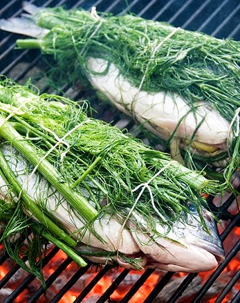 Grilled fish with fennel, Mediterranean Diet, The Cretan Diet