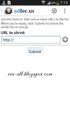 Pemendekan link aplikasi android adfocus (rev-all.blogspot.com)