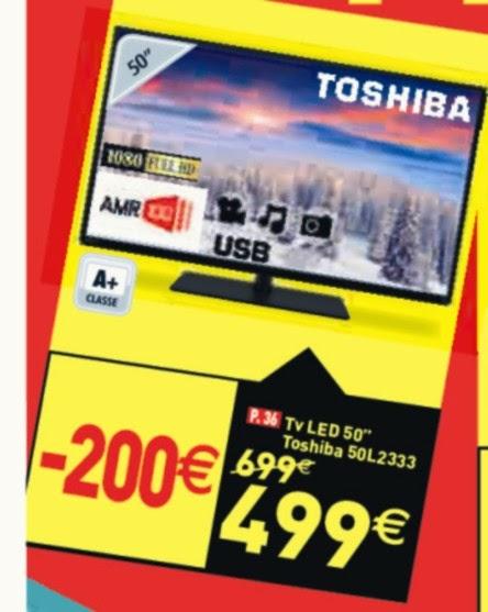Offerta tv led 50 pollici toshiba 50l2333 prezzo pi basso for Tv 75 pollici prezzo