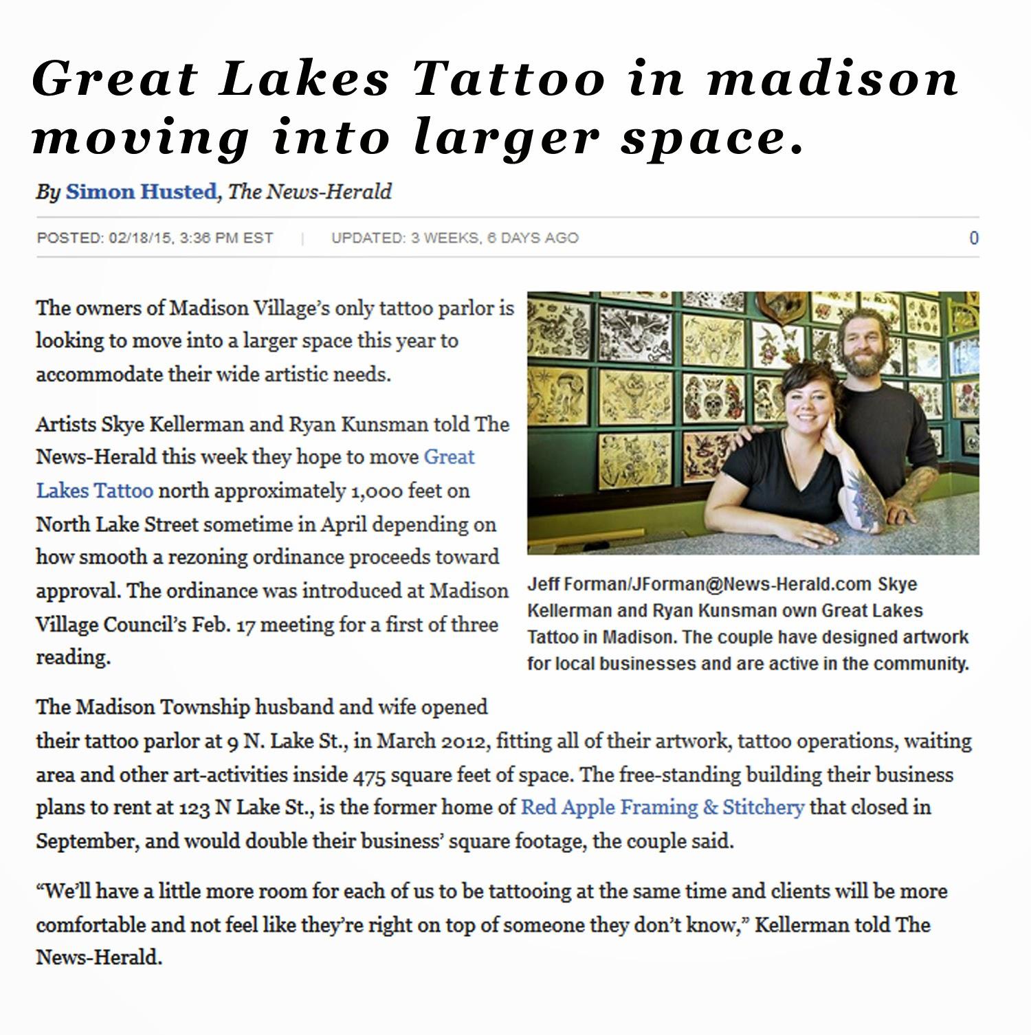 Ohio Tattoo Studio