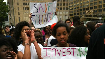 Philadelphia Students Protesting Education Cuts