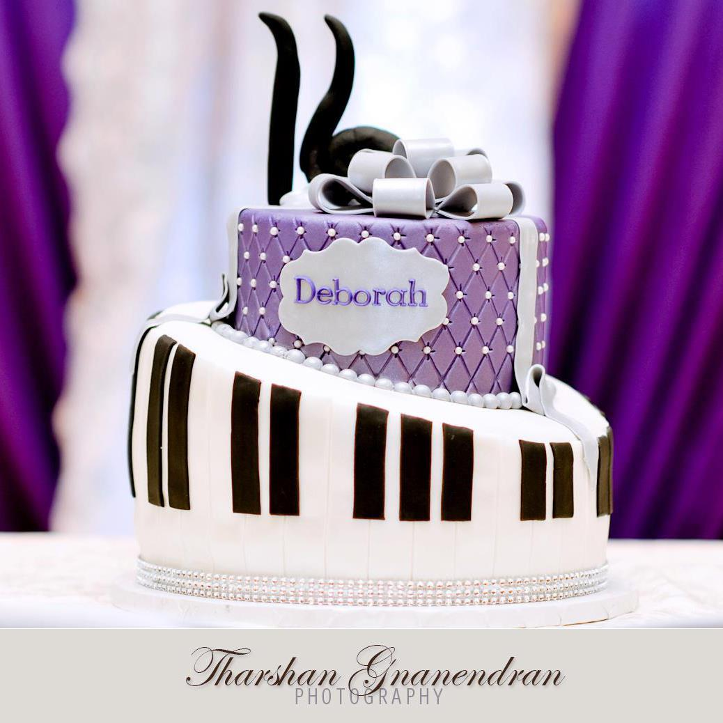 The Frosted Cake Boutique The Royal Purple Musical Themed Birthday Cake