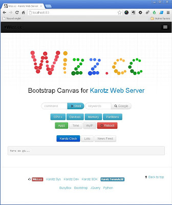 Karotz web Server Bootstrap+JQuery+CGI Template