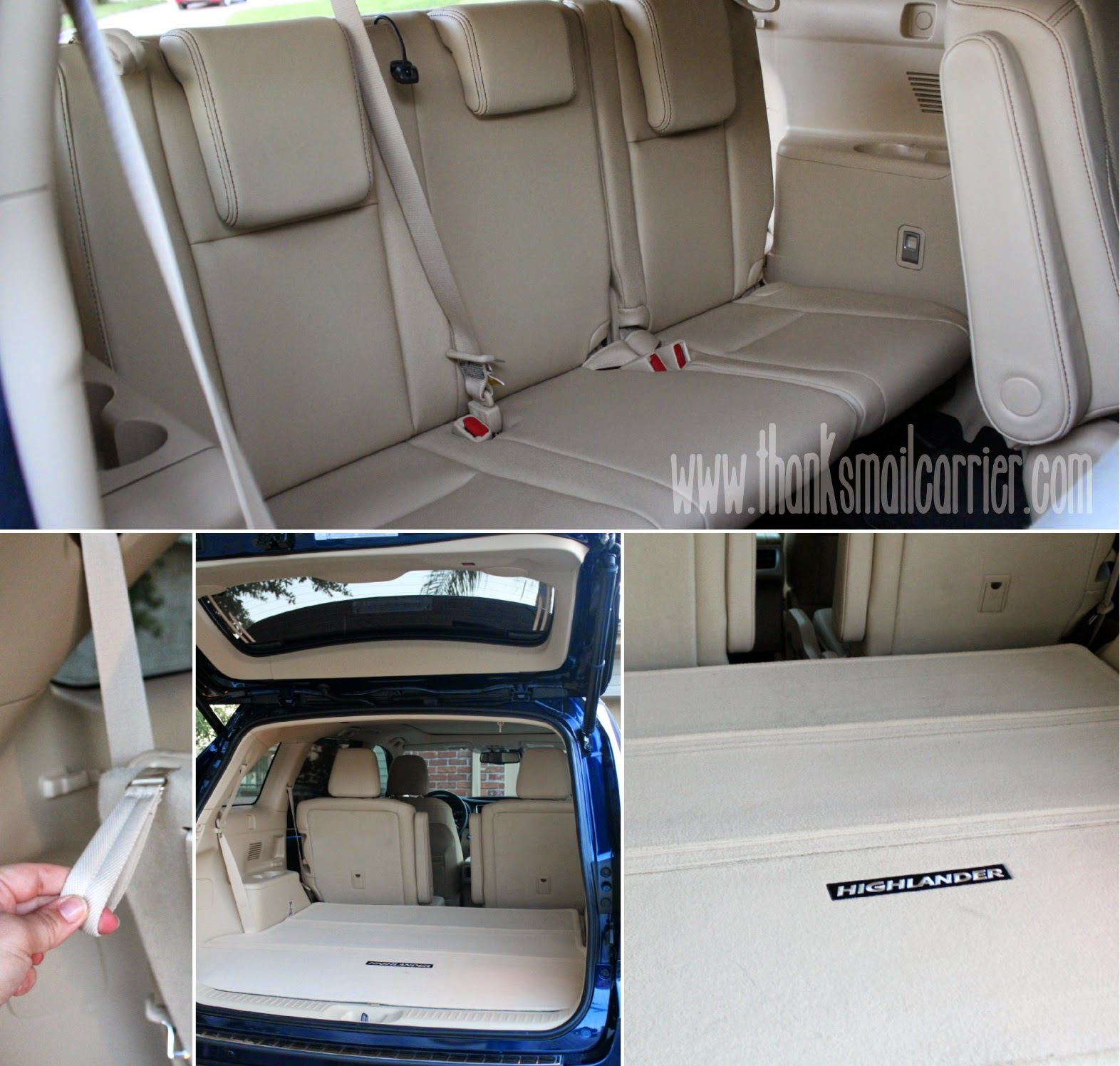 Toyota Highlander storage