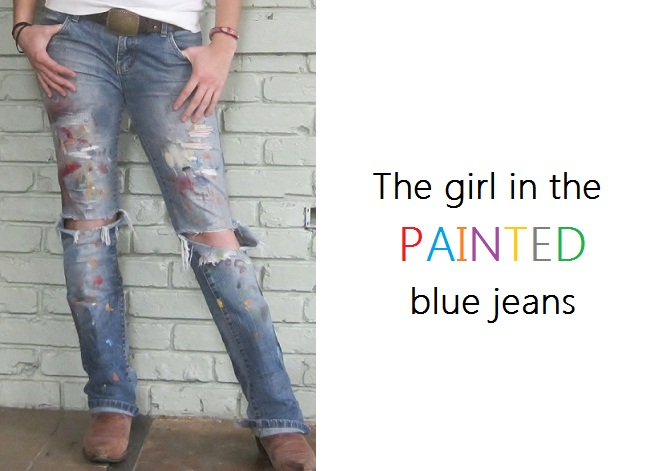 The Girl in the Painted Blue Jeans
