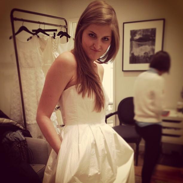 lilmissjen: A quick break for wedding dresses.