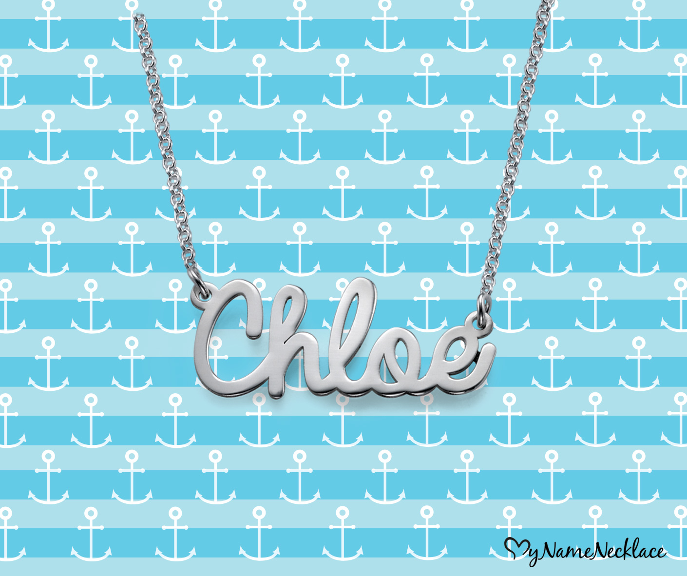 Personalized Jewelry - Cursive Name Necklace