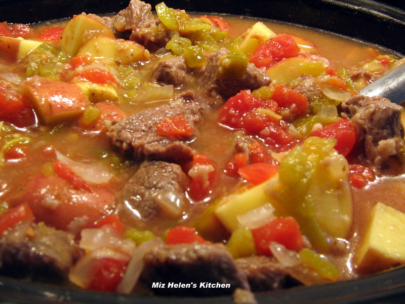 Slow Cooker Green Chili Stew at Miz Helen's Country Cottage
