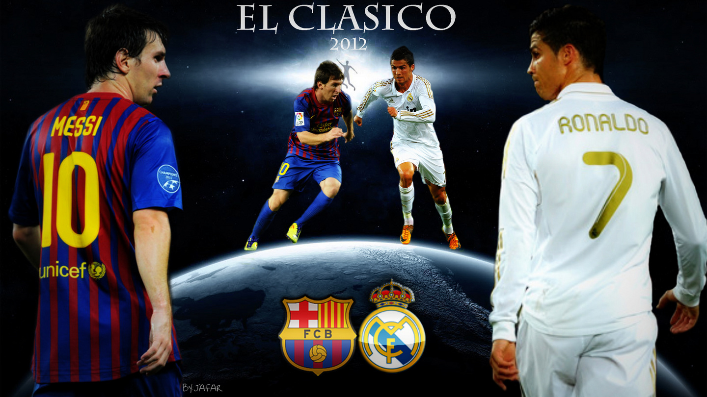 Cristiano Ronaldo Vs Lionel Messi Wallpaper In 2012