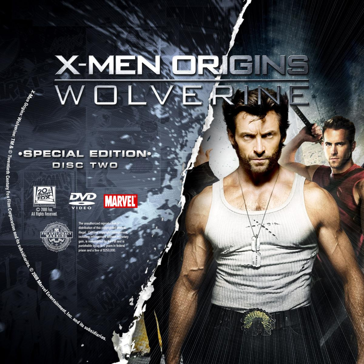 Label DVD X-Men Origins Wolverine Special Edition Disc Two