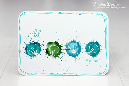 Light bulb card by Christine Drogt using the Around the House Stamp set by Newton's Nook Designs