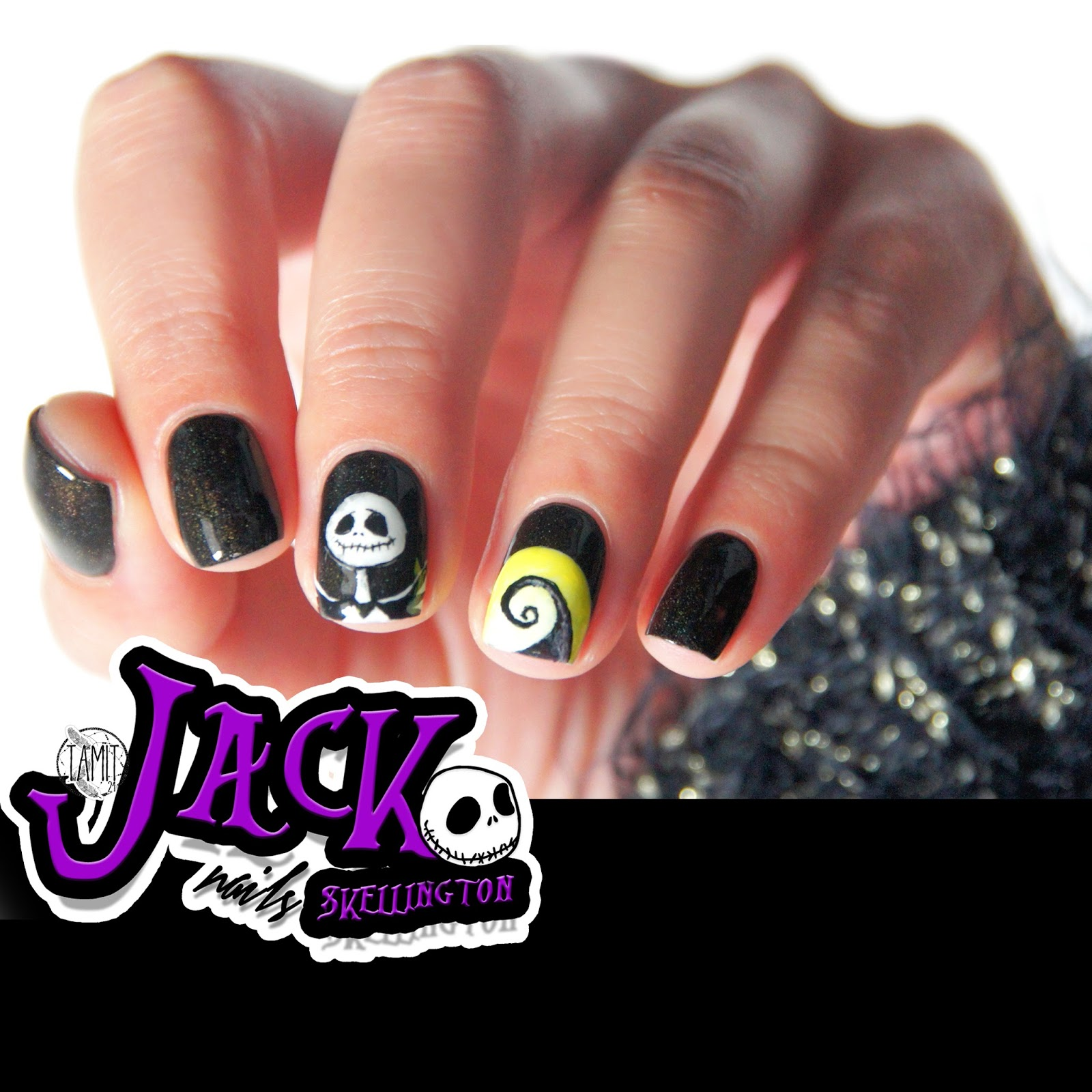 fall in ...naiLove!: Jack Skellington nails: tutorial. | Halloween 2014.