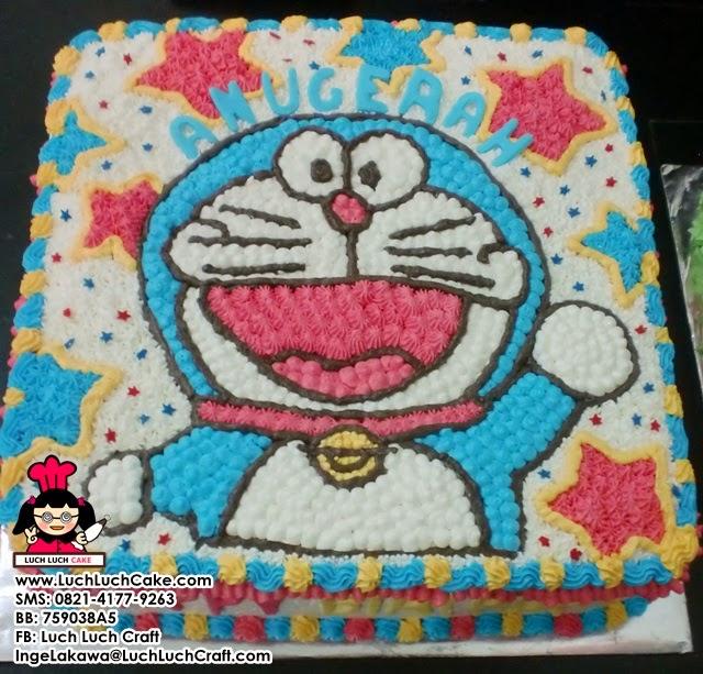Kue Tart Doraemon Buttercream Daerah Surabaya Sidoarjo