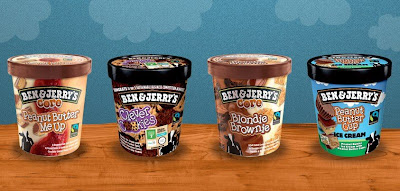 Ben&Jerry glass