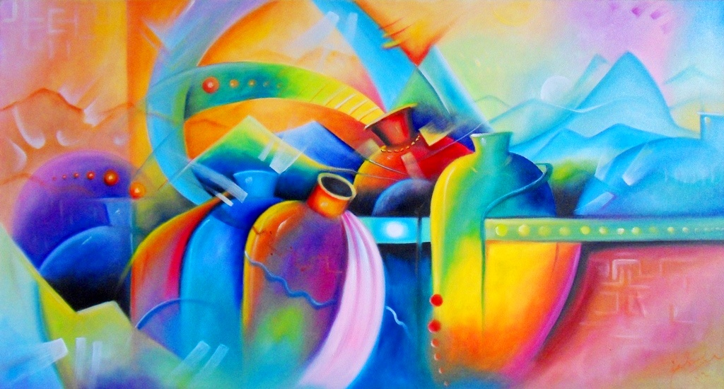 Cuadros modernos pinturas y dibujos cuadro de bodeg n - Cuadros bodegones modernos ...