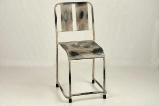 Silla Forja Dark Crema Desgastada, silla forja desgastada, silla de forja rustica
