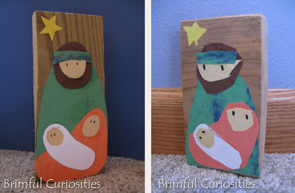 Brimful Curiosities Simple Block Nativity Craft For Kids