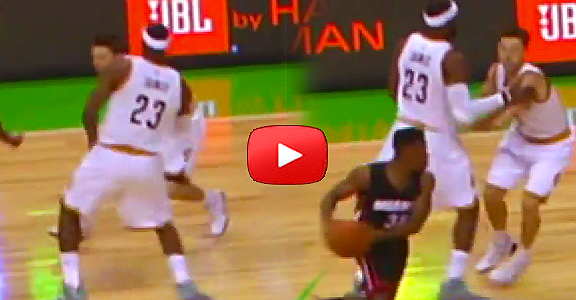 Cavs vs. Heat: LeBron Sets A Screen On His Own Teammate (VIDEO)