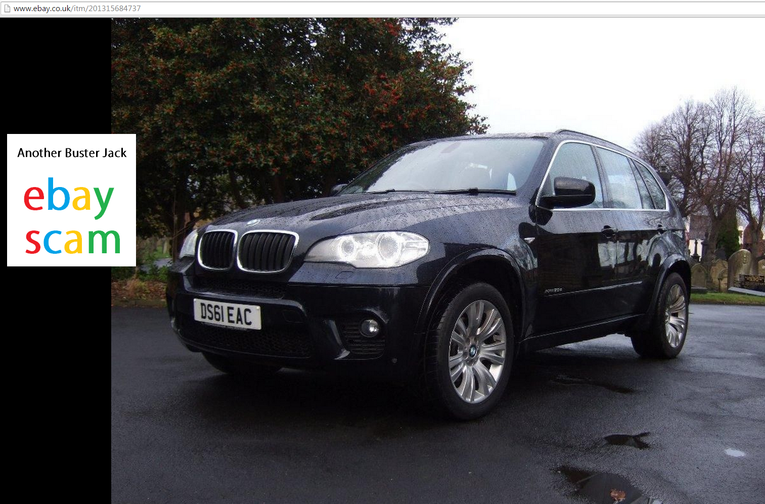EBAY SCAM : BMW X5 3.0TD 2010 xDrive30d M Sport | DS61EAC Fraud DS61 ...