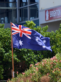 aussie flag at brighton surf club