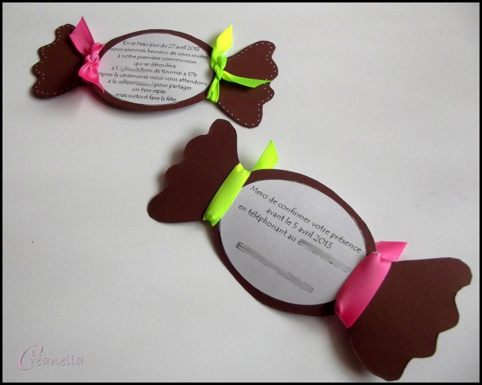Favorit Créanella atelier créatif: Faire parts Bonbon choco AC11