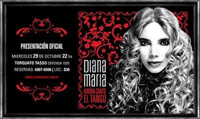 """* Diana María, """"Ahora canto el Tango"""""""