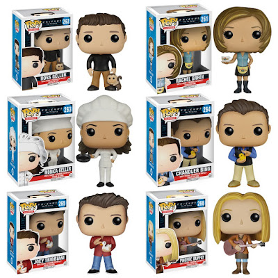 Friends Pop! Television Vinyl Figure Series by Funko - Ross Geller, Rachel Green, Monica Geller, Chandler Bing, Joey Tribbiani & Phoebe Buffay