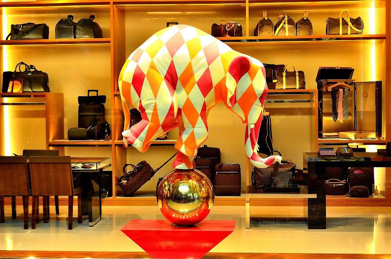 elephant decoration at louis vuitton