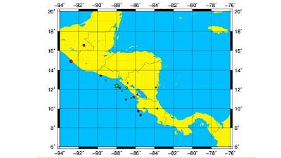Sismo 5,5 grados sacude El Salvador y Nicaragua, 20 de Enero 2013