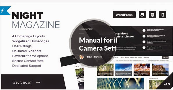 Night - WordPress News and Magazine Theme