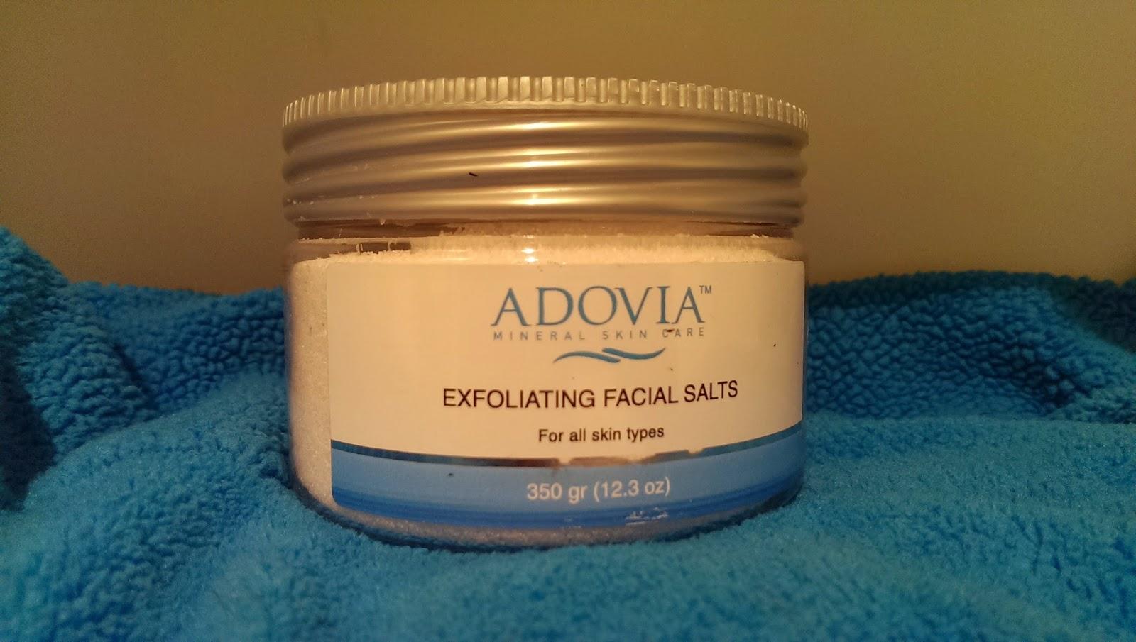 Exfoliating+sea+salt Adovia Exfoliating Facial Sea Salts Review - Natural Facial Scrubs  #adovia