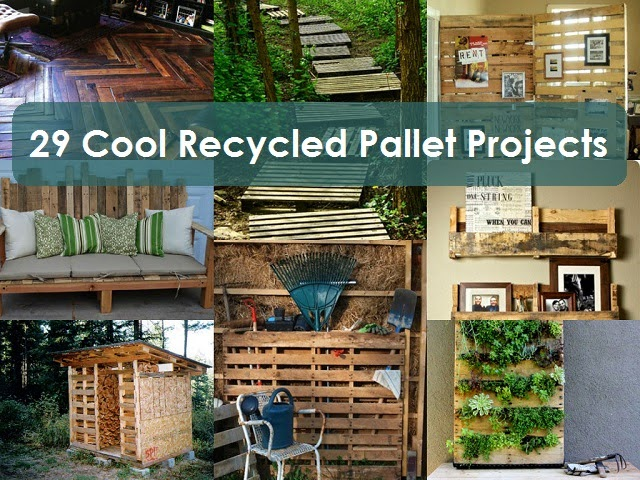 29 cool recycled pallet projects creative ideas for Cool recycling projects