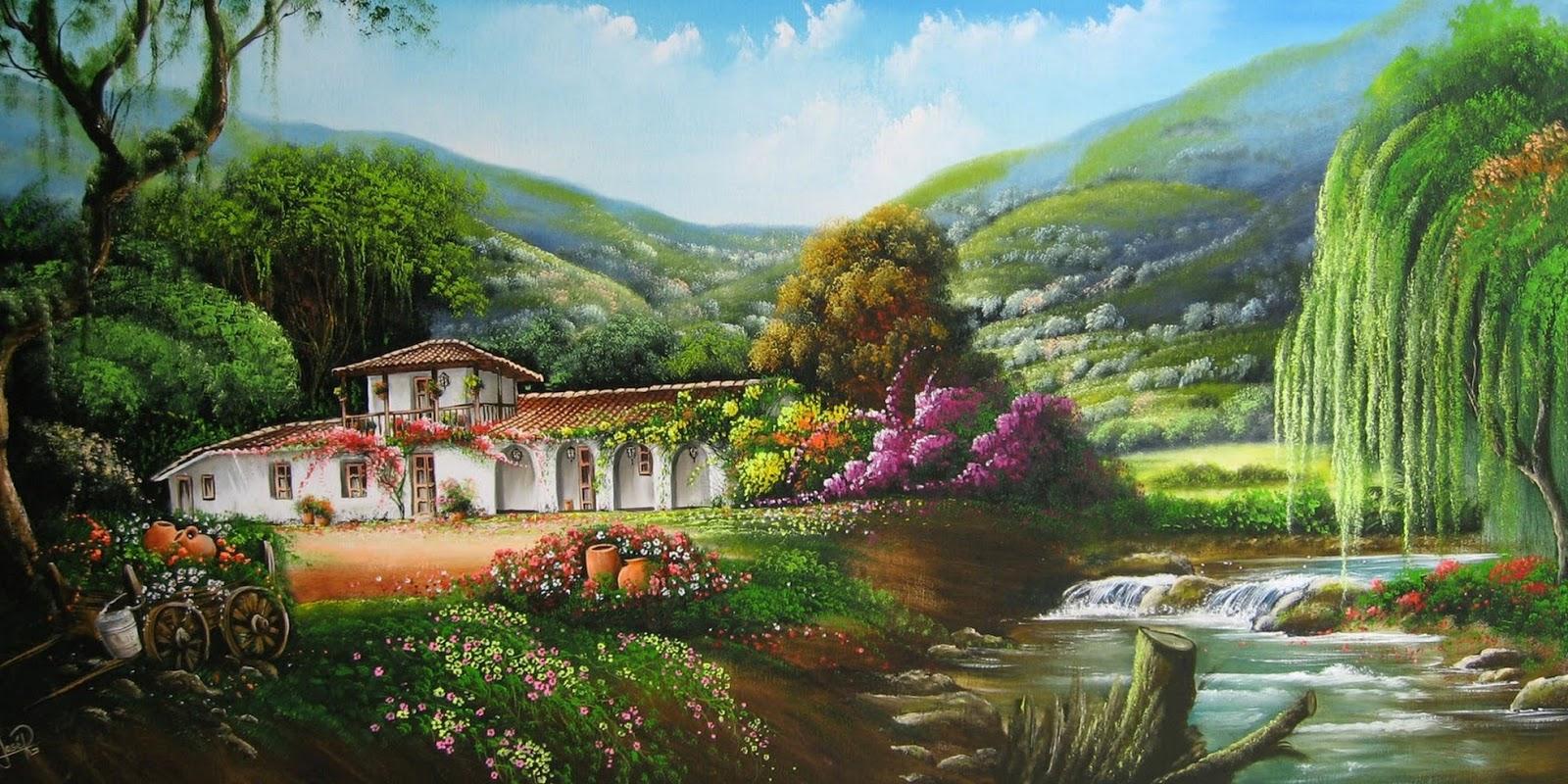 Pintura moderna y fotograf a art stica paisajes for Layout di casa gratuito