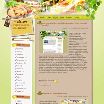 The Real Taste of Switzerland Blogger Template. free download template blogspot. cooking and recipes blogger template