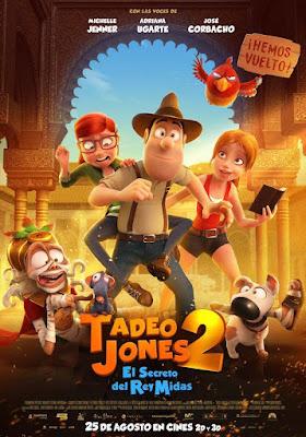 Tadeo Jones 2 El Secreto Del Rey Midas 2017 DVD R2 PAL Spanish