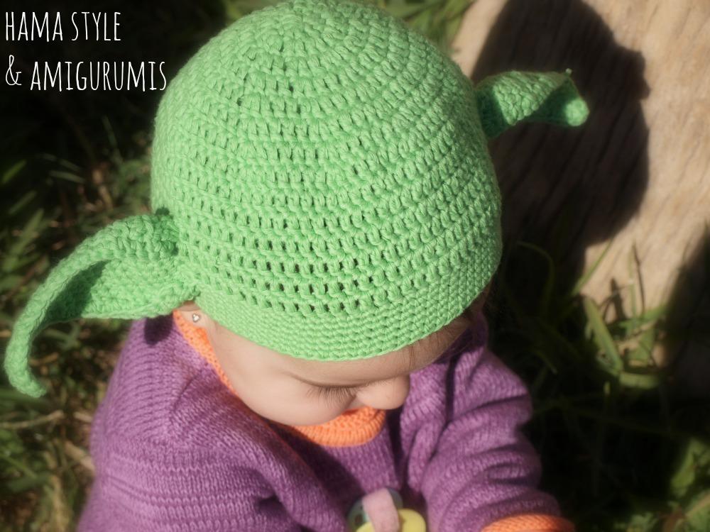 Marta Ruso Crochet Creativo: Gorrito Yoda para bebé [PATRÓN]