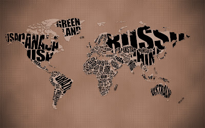 Typographic World Map Inspiration Awesome HD Wallpaper