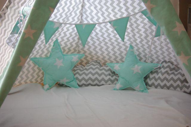 poduszka gwiazdka, tipi namiot, namiot dla dzieci, poduszka chmura, wigwam do zabawy