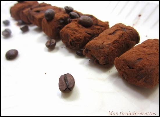 truffes au café
