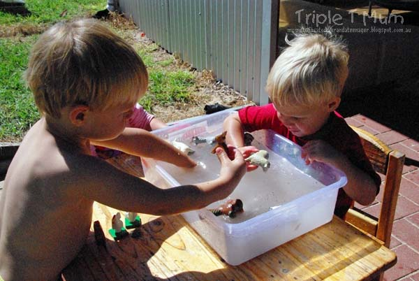 Sensory Play with Water Play
