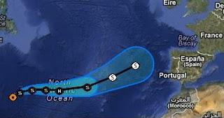 Tropischer Sturm GORDON zieht nach Europa, Gordon, aktuell, Europa, Deutschland, Orkan Sturm Hurrikan Deutschland, Vorhersage Forecast Prognose, Hurrikansaison 2012, Atlantische Hurrikansaison, August, 2012,