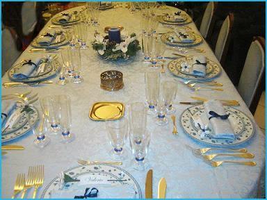 Non solo pasticci tavola di un natale in azzurro - Tavola azzurra 3 ...